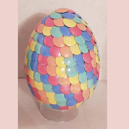Multicolored Pastel Rainbow 3 inch Dragon Egg