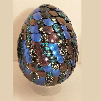 Multicolored Blue Glitter 3 inch Dragon Egg