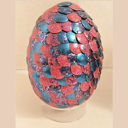 Coral Blue Glitter 2.75 inch Dragon Egg