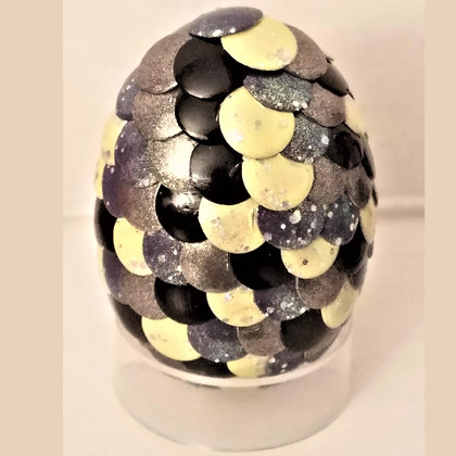Multicolored Yellow Silver Black 2 inch Dragon Egg