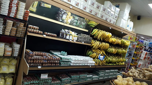 Expositor  Bananas & Ovos