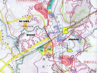 府新設都市計画道路「大岩線」は「地すべり地形」上に計画府新設都市計画道路「大岩線」は「地すべり地形」上に計画