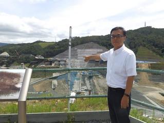 安威川ダム工事現場と都市計画道路大岩線工事現場を調査