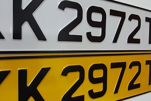 Euro Plate (White/Yellow Base)