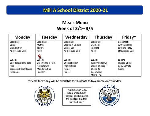 2020-21 Meals Menu Week 26 _ 3_1_21 - 3_