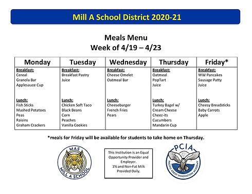 2020-21 Meals Menu Week 32 _ 4_19_21 - 4