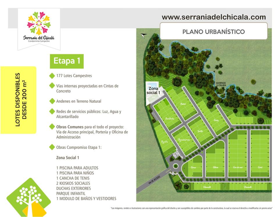 Plano Urbanistico. Etapa 1