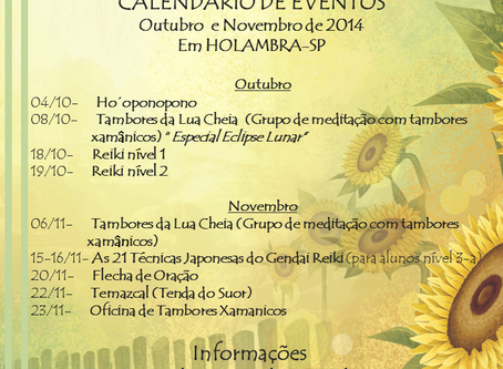 Calendário de Holambra-SP out/nov 2014
