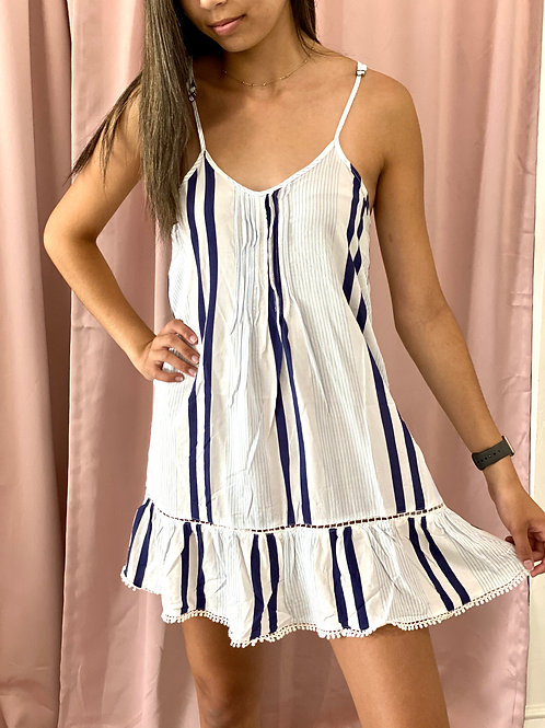 Striped Loose Fitting Dress
