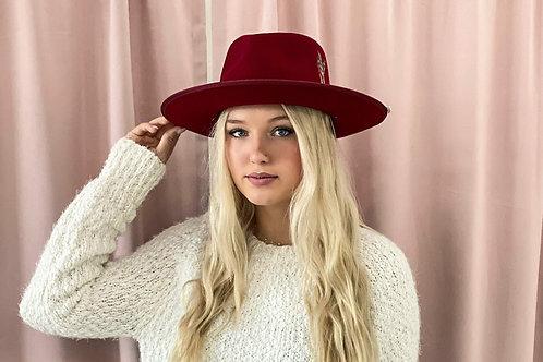 Skylar Maroon Hat