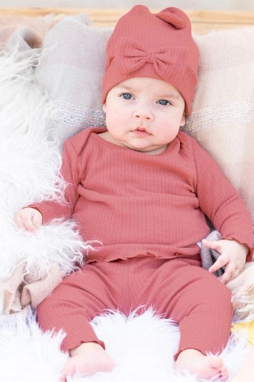 Mauve Snuggle 2 piece pajamas