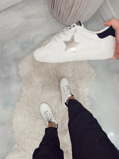 White and Gold Star Shoes