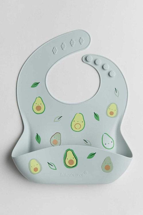 Silicone Bib Printed - Avocado