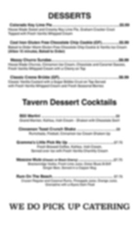 Desserts & Cocktails Summer 2019