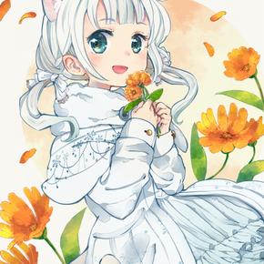 雪に咲く花