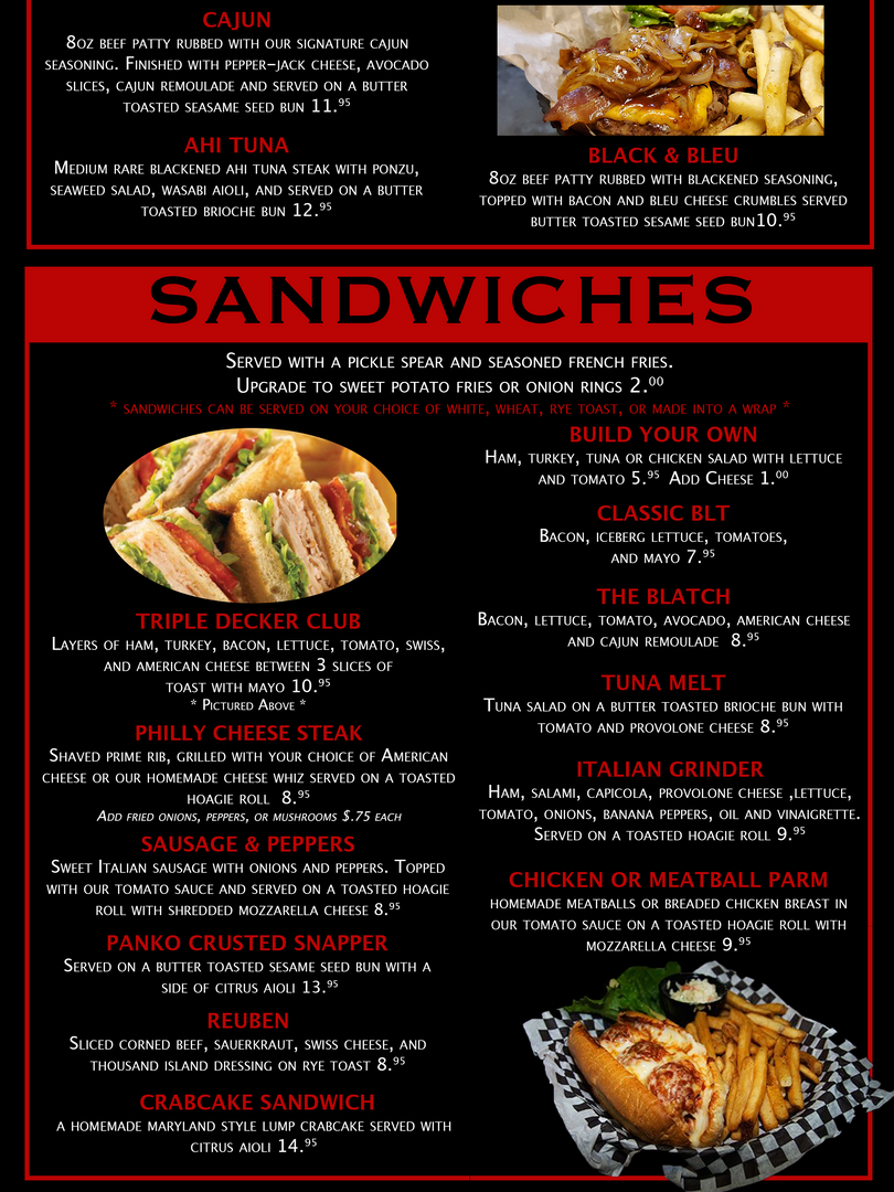 Overtime Menu Page 3