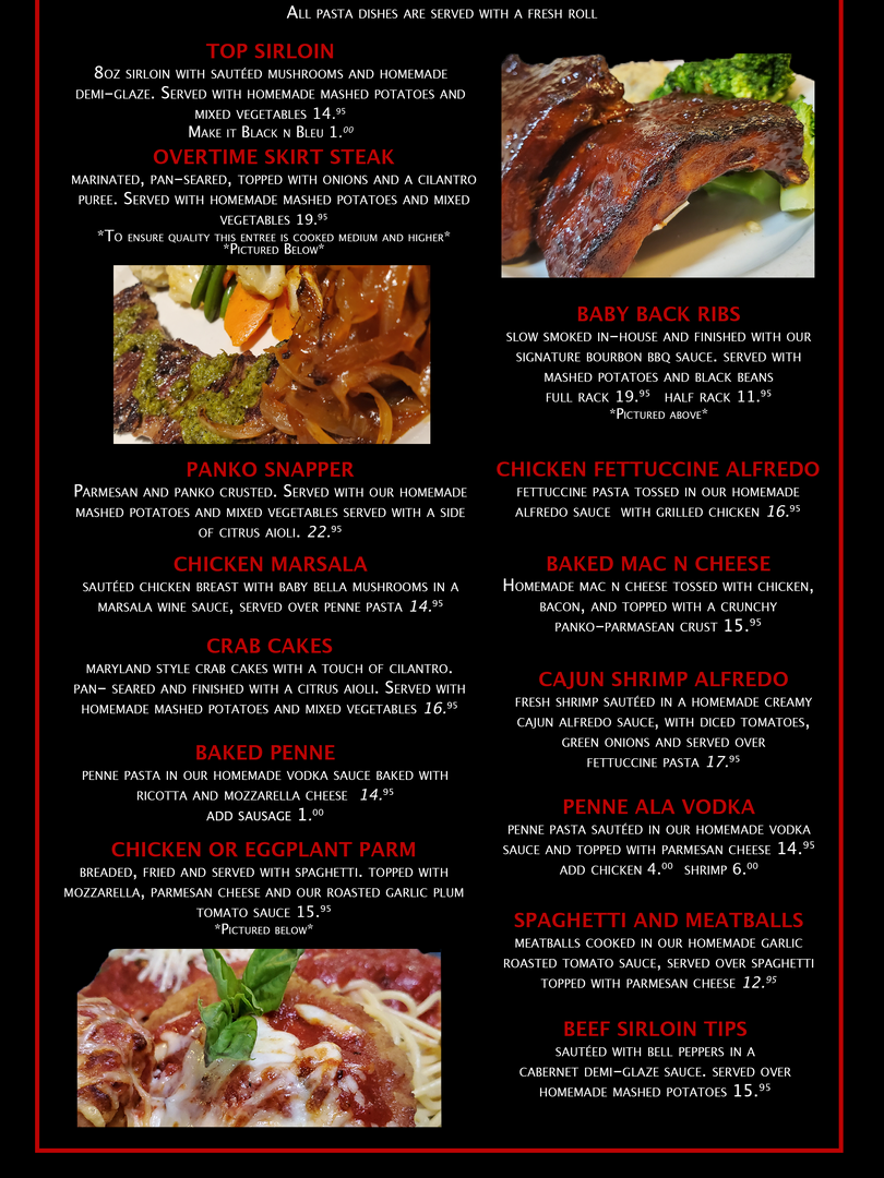 Overtime Menu Page 4