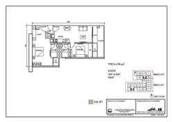 The Luxe Floor Plan Type A1 790sqft