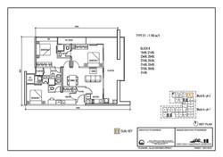 The Luxe Floor Plan Type E1 1180sqft