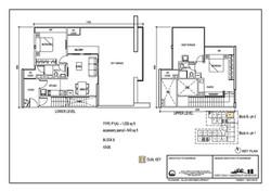 The Luxe Floor Plan Type P1(A) 1035sqft
