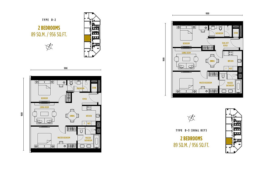 Oxley Towers So Sofitel Floor Plan 2Bedr