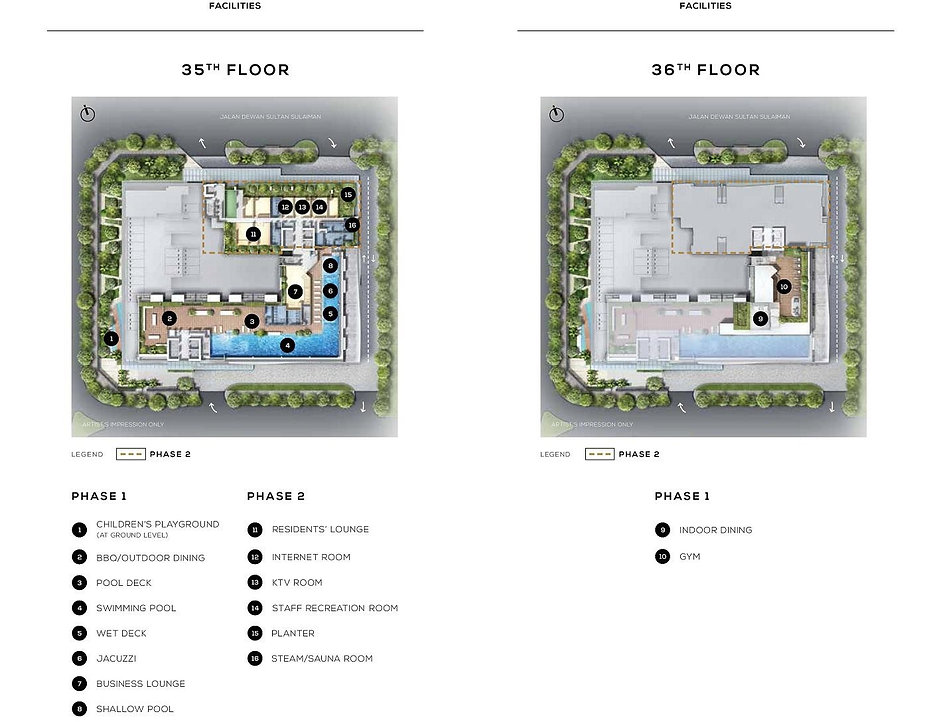The Colony By Infinitum Site Plan Facilities Deck