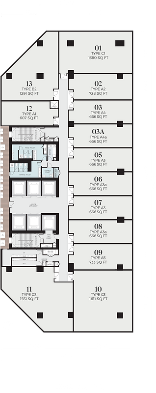 OxleyTowers Signature Offices Floor Plan