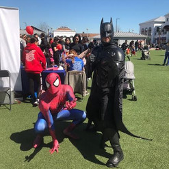 Spiderman and Batman kids party