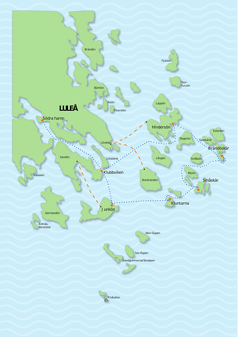Skärgårdskarta_öarna färdväg MED isvägar