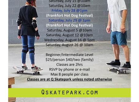 Q Skatepark Lesson Schedule
