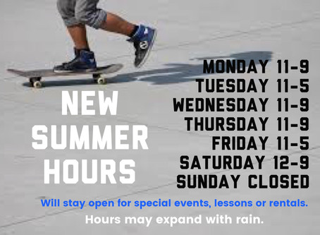 Q skatepark Summer Hours