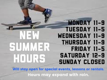 Q skatepark Summer Hours