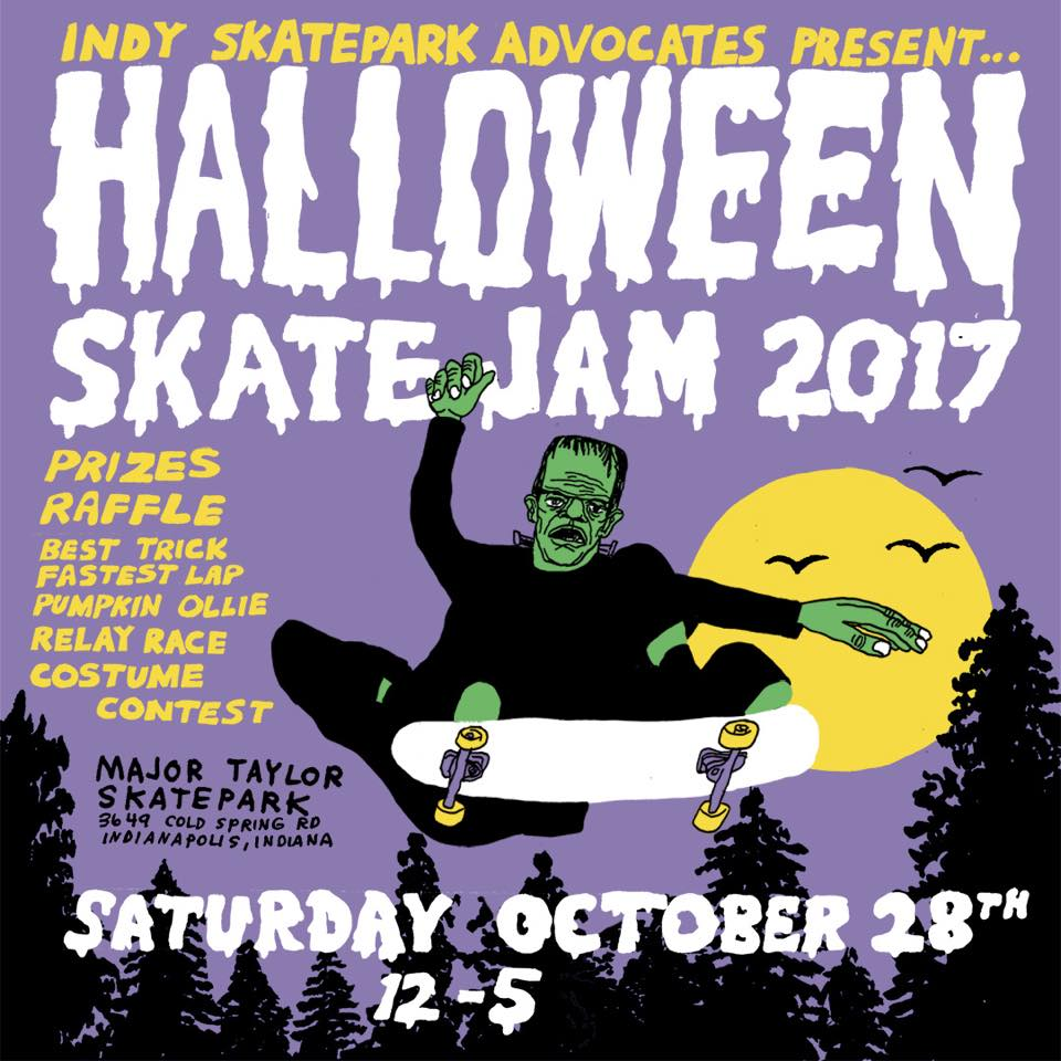 indy skate advocates halloween skate jam | event management