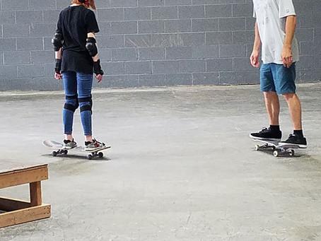 Skateboard Lesson June 8