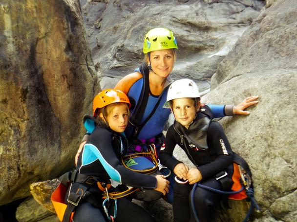 canyoning per bambini e famiglie