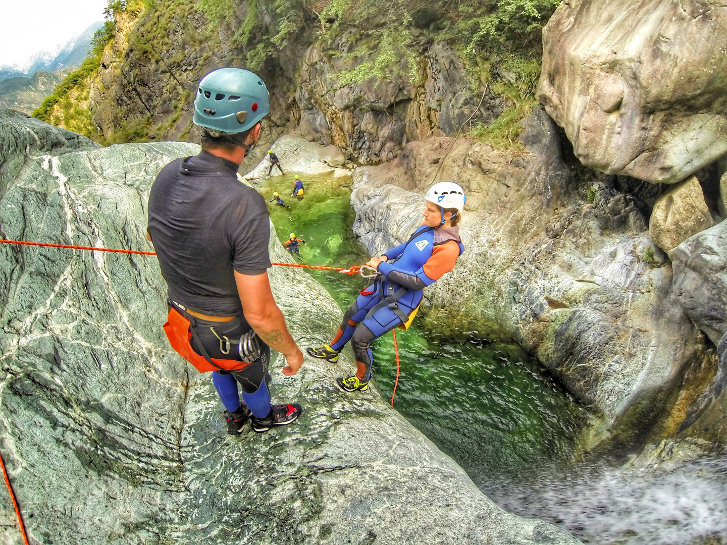 canyoning chalamy valle d'aosta