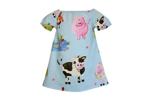Handmade Farmyard Peasant Dress