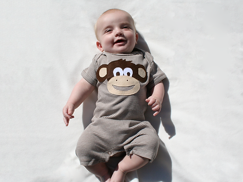 Organic Monkey Playsuit