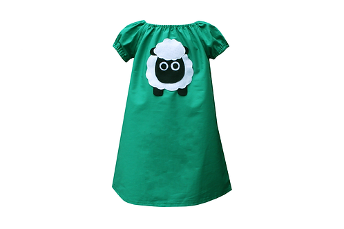Handmade Sheep Peasant Dress