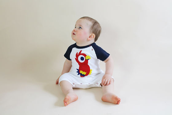 weeclothing, baby playsuit, parrot.jpg