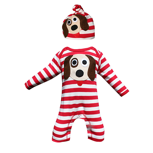 Dog Romper & Hat Set