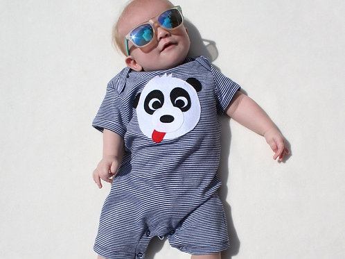 Organic Panda Playsuit
