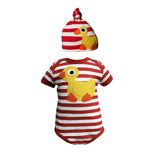Duck Bodysuit & Hat Set