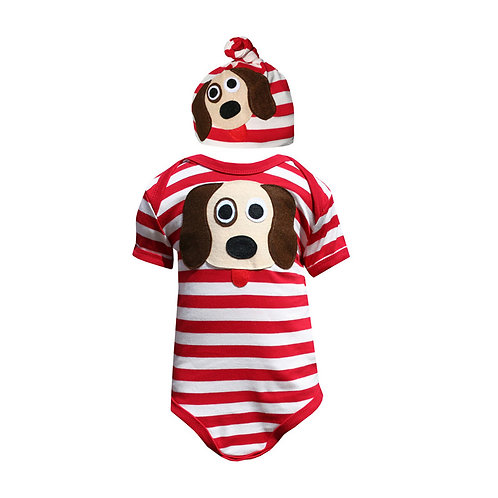 Dog Bodysuit & Hat Set