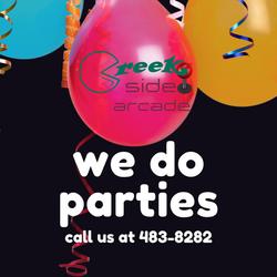 we do parties