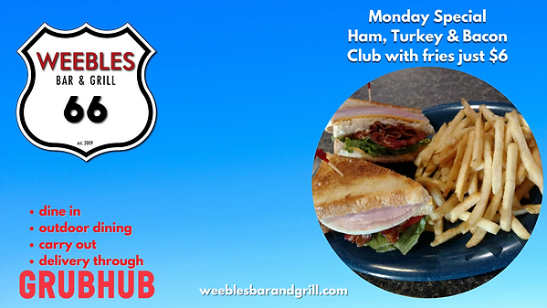 Monday Special Ham, Turkey & Bacon Club