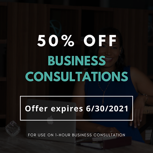 50% Off Business Consultation
