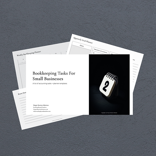 Bookkeeping Tasks For Small Businesses + Planner Templates