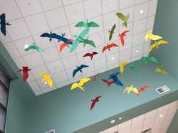 Origami Style Bird Installation