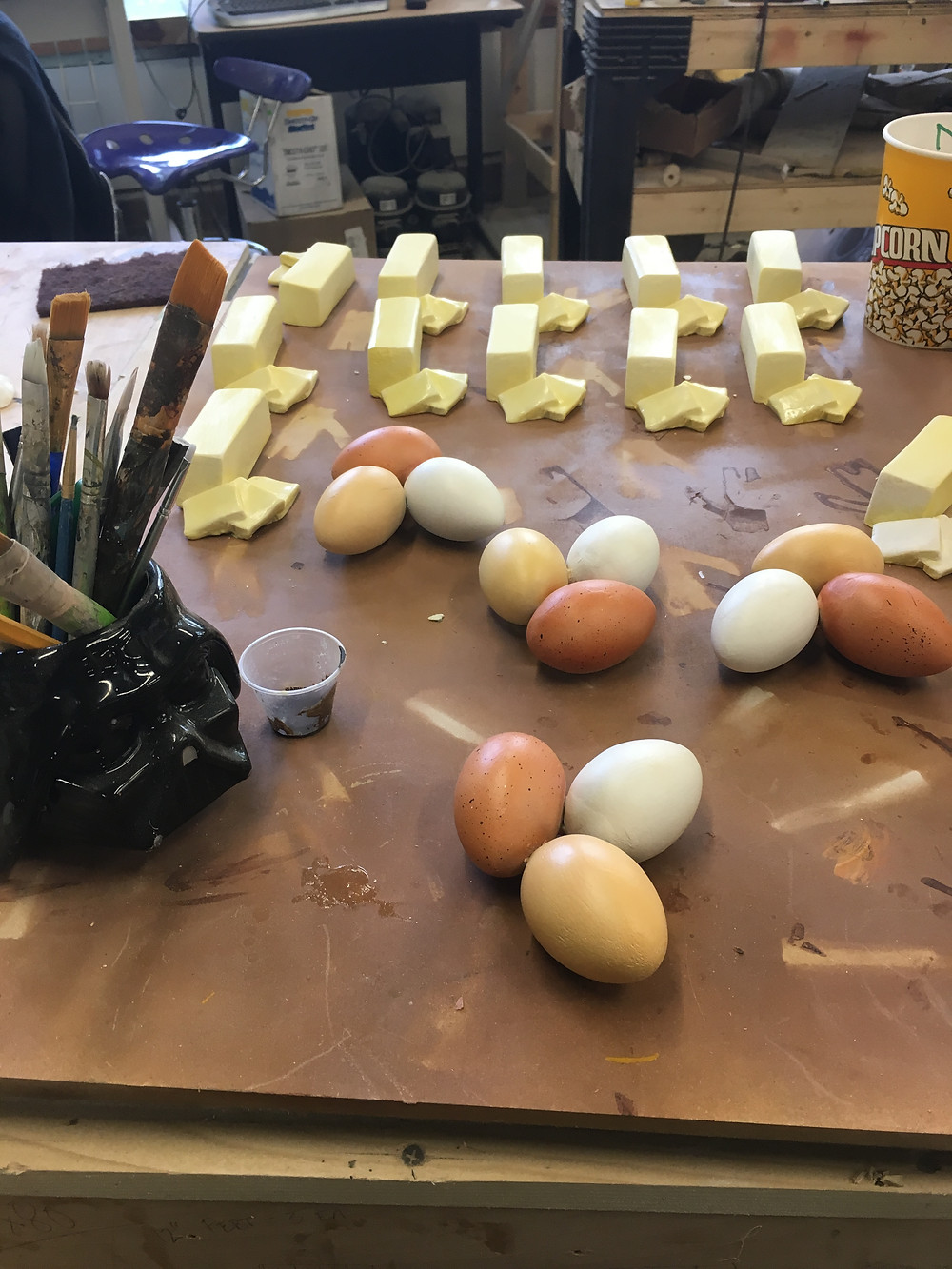Paint a few hundred eggs why don't you